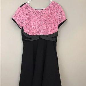 Tatyana Dress 3XL NWTs Pink Black Pinup 50s